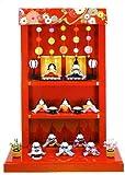 雛人形 コンパクト 『つるし飾り台 わらべ雛 10人揃い』 お雛様/ひな人形/収納ケース