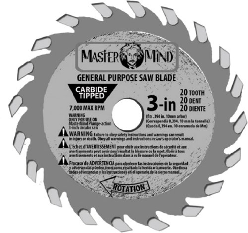 MasterMind 800345 Compact Precision 3-Inch Tungsten Carbide Tip Circular Saw Blades