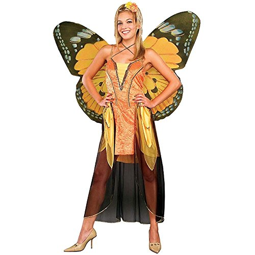 Adult Orange Butterfly Costume with Wings - Standard