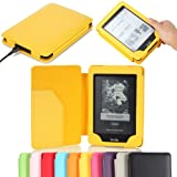 "MoKo Cover Case for Amazon All-New Kindle Paperwhite (Both 2012 and 2013 versions with 6"" Display and Built-in Light), YELLOW (With Smart Auto Sleep/Wake feature) ~ MoKo"