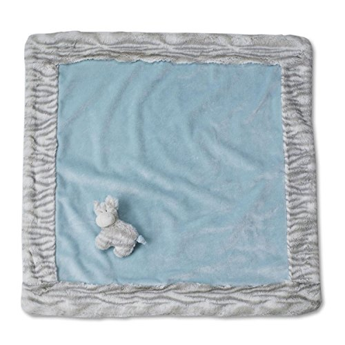 Nat and Jules Blanket and Zebra Rattle Set, Blue