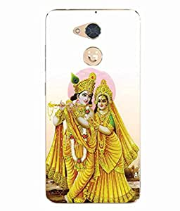 Case Cover Radhey Krishna Printed White Soft Back Cover For Gionee S6 Pro