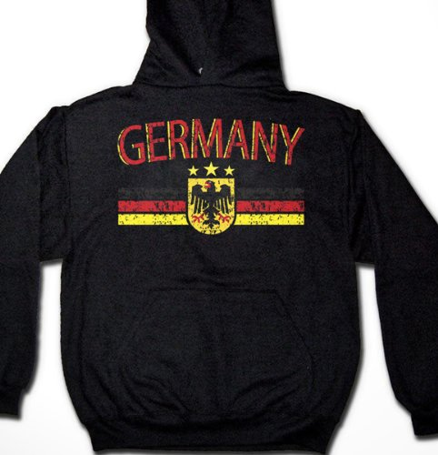 Germany Eagle Crest International Soccer Sweatshirt, German Soccer Mens Hoodie