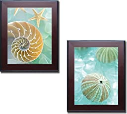 Seaglass 2 & 4 by Alan Blaustein 2-pc Premium Framed Canvas Set (Ready-to-Hang)