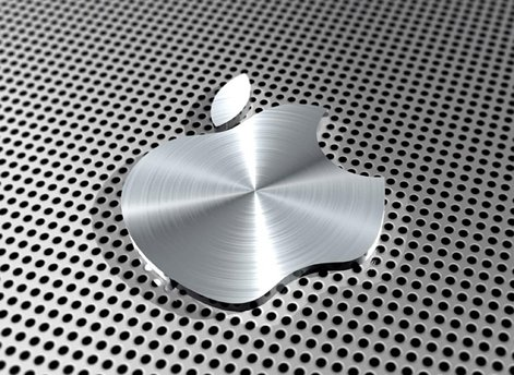 Mauspad-mit-Apple-Logo-Aluminium-Optik