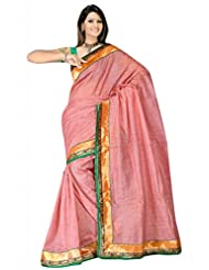 Sehgall Saree Indian Bollywood Designer Ethnic Professional Designer Fancy Jute Material Saree Pink
