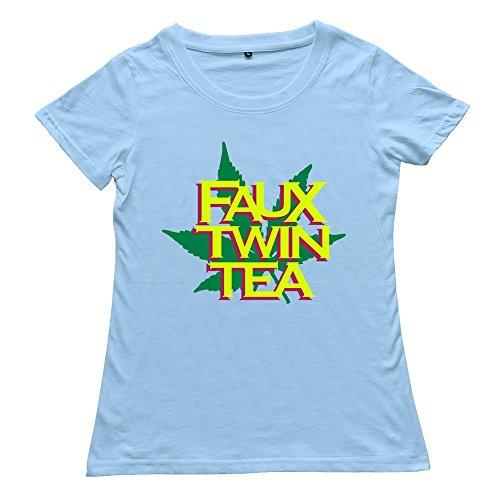 Shes Womens O-Neck Short Sleeve Faux Twin Tea Shirt Shirt