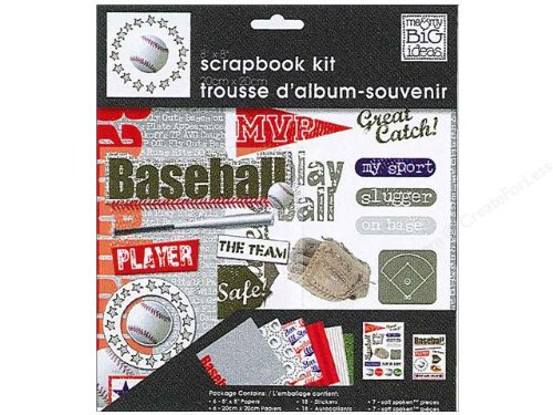 Me and My BIG Ideas PK-266 8-Inch by 8-Inch Scrapbook Page Kit, Baseball