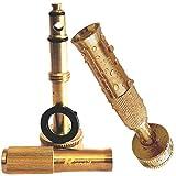 Garden Hose Nozzle - Adjustable Hand Sprayer - Heavy Duty Brass Construction, Leak Proof Warranty