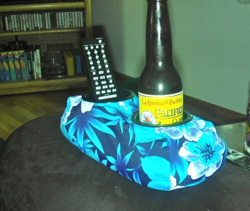 Weighted Drink Cup Holder- Beanie Baby For Your Beer! (Regular Cup Size) (Hawaiian/ Tropical)