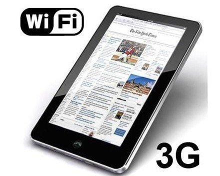 7 inch Android 2.2 Touchscreen Tablet PC Google 3G WiFi MID 4GB capactiy (Silver color)