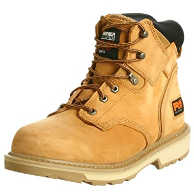 "Timberland PRO Men's Pitboss 6"" Soft-Toe Boot,Wheat,7 M"