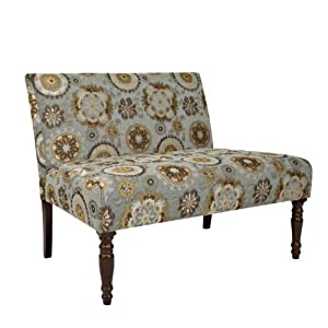 Black Friday 2012 Deals On angelo:HOME Bradstreet Settee in Vintage Tapestry Blue Blackfriday Sales 2012