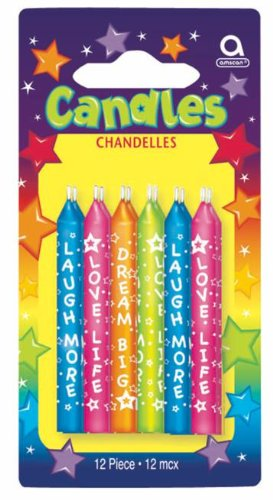 Message Candles Party Accessory - 1