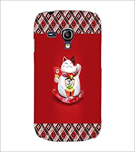 PrintDhaba Happy Kitty D-3033 Back Case Cover for SAMSUNG GALAXY S3 MINI (Multi-Coloured)