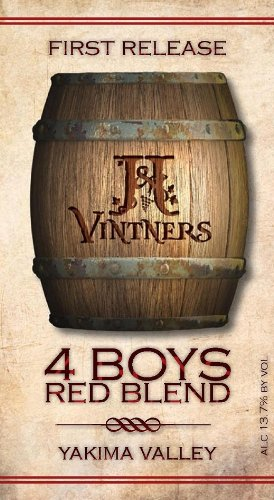 "Nv J&J First Release ""4 Boys"" Red Blend Yakima Valley 750 Ml"