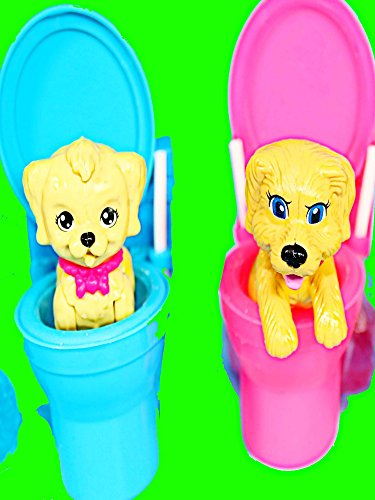 Barbie Puppy Princess Disney Frozen Kids Parody Short Film with Candy Playset