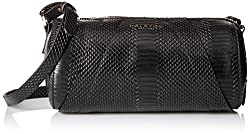 Halston Heritage Barrel Handbag, Black, One Size
