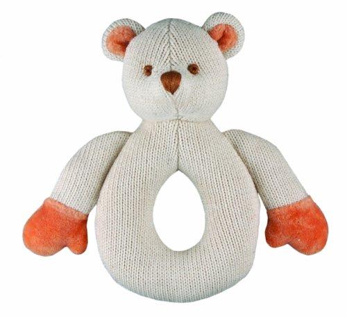 Miyim Simply Organic Knit Rattle Teether, Bear, 0-3 Months