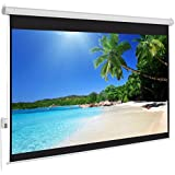 "Best Choice Products® Motorized Electric Auto Projector Projection Screen 100"" 4:3 Display Hd"