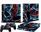 PS4 skins spiderman vinyl decal cover for ps 4 console and 2 controllers