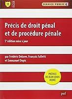 Précis de droit pénal et de procédure pénale