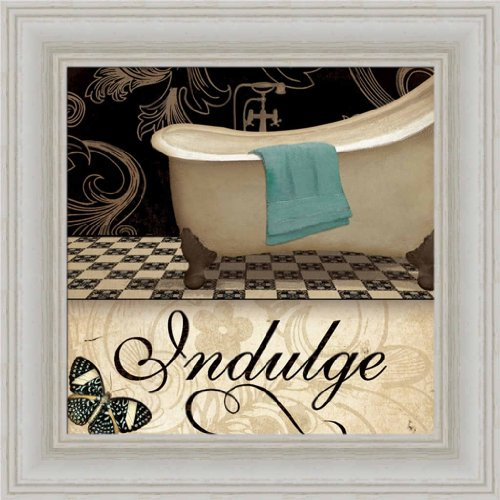 Indulge Spa Decor By Jo Moulton Bathroom Sign 8X8 Framed Art Print Picture Wall Decor front-927634