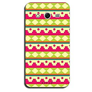 Mozine Pink Fort Pattern printed mobile back cover for Samsung galaxy core 2