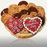 Valentine Hearts Gourmet Cookie Basket