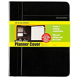 AT-A-GLANCE Professional Size Planner Cover, Fits up to 9 x 11 Inch Pages, Assorted Colors - Color May Vary(80PJ20-00)