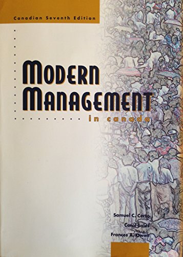 Modern Management In Canada: Diversity, Quality, Ethics, And The Global Environment