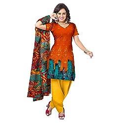 Aagaman Fashion Blended Cotton Unstitched Salwar Suit (TSSTVDSK5013_Orange)