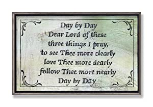 Stupell Home Day by Day Dear Lord Inspirational Wall Plaque