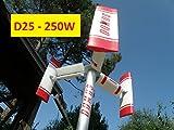D25 - Mini Micro Generatore Eolico domestico ad asse verticale DOMUS 250 Darrieus Savonius 250W