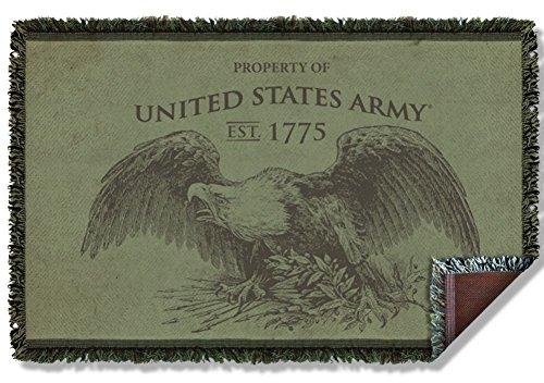 Woven Throw: Property U.S. Army AR134TAP