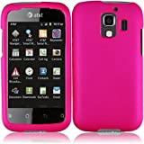 Hot Pink Rubberized Protector Case for AT&T Fusion 2 / Huawei U8665
