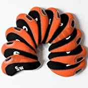 Andux Number Tag Golf Club Head Covers For Irons 10pcs/set Mt/s02 Black/orange