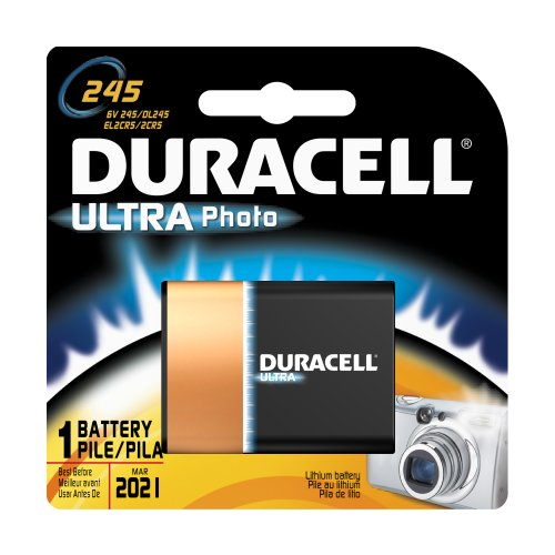 Duracell Dl245Bpk Ultra Photo Lithium/Manganese Dioxide Battery, 245 Size, 6V (Case Of 6)