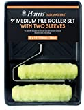 Harris 4210 9-Inch Taskmasters Medium Pile Roller Set with 2 Sleeves