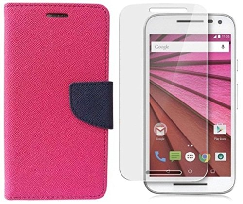 MV FLIP COVER FOR Asus Zenfone 5 A500CG With Screen Guard - (Pink,Blue)  available at amazon for Rs.219