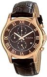 Bulova Men's 97B120 Chronograph Rose-Gold Strap Watch