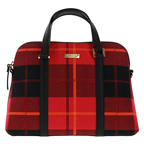 Kate Spade New York Newbury Lane Plaid Small Rachelle Convertible Handbag (Plaid Red) (Kate Spade Tops compare prices)