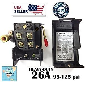 Pressure Switch for Air Compressor 95-125 psi Single Port