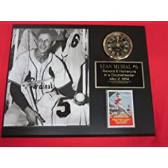 J&C Baseball Clubhouse JC000974 Stan Musial St Louis Cardinals Collectors Clock... by J & C Baseball Clubhouse