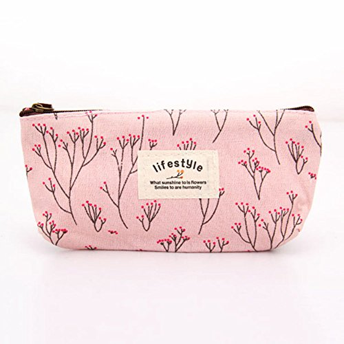 Hot Sale New Flower Floral Pencil Pen Canvas Case Cosmetic Makeup Tool Bag Storage Pouch Purse (Miele Backpack Vacuum compare prices)