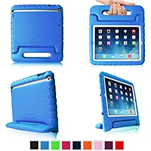 iPad Air 2 Case - Fintie Kiddie Series Light Weight Shock Proof Convertible Handle Stand Cover for Apple iPad Air 2 (2014 Release), Blue