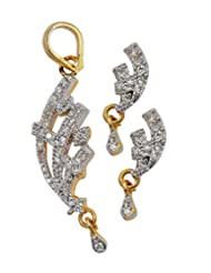 Maayra Metal Pendant Set For Women (Gold)