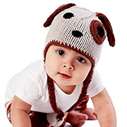 Huggalugs Baby and Toddler Boys or Girls Puppy Dog Beanie Hat M