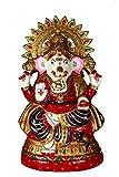 HD Techno Crafts Indian Rajasthani Surya Chakra Mukut Ganesha 14 inch