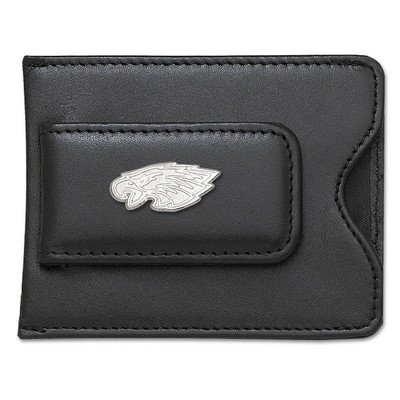 NFL Logo Black Leather Money Clip / Credit Card / ID Holder NFL Team: Philadelphia Eagles at Amazon.com